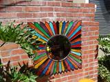 Brilliant Colored Sunburst Mirror
