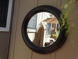 Round Exterior Mirror