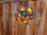 Mr. Frog, Mr. Crab and Mr. Gecko Fence decorations