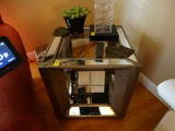 2 piece set.  Large Coffee table and small glass side table