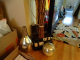 Storage box, Bamboo shoots, Metal fire place surround and more