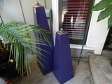 Outdoor Purple Cement Candles
