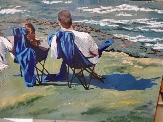 """Watching The Waves La Jolla"""