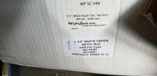 "1 1/2"" White Paper - AKA Paper Tabs"