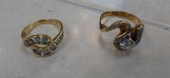 (2) 14K Diamond Rings