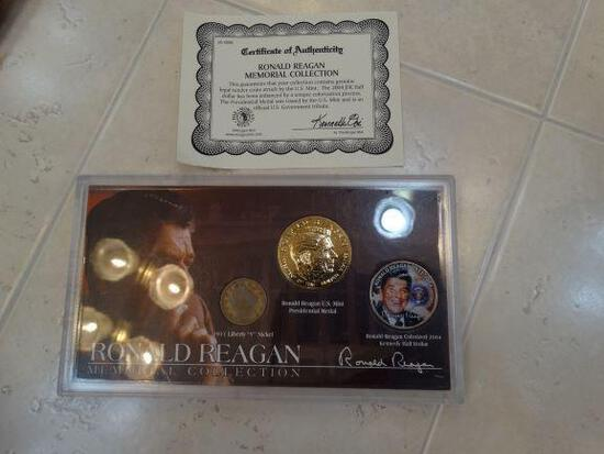 Ronald Regan Memorial Coin Set, U.S. Mint