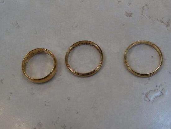 3 Gold Wedding bands