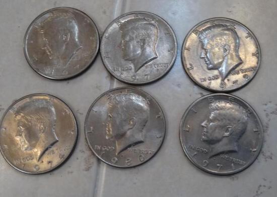 33 Kennedy U.S. Half Dollars