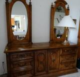 6 Drawer Dresser with 2 Large Mirrors