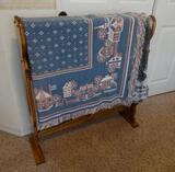 Comforter Rack with Blanket