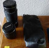 Camera Lens and 2 older Cameras