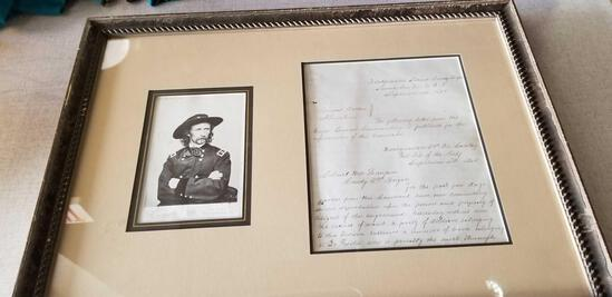 Autographed Letter GENERAL George Custer