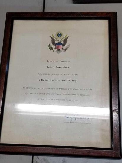 1945 Service Member Memory