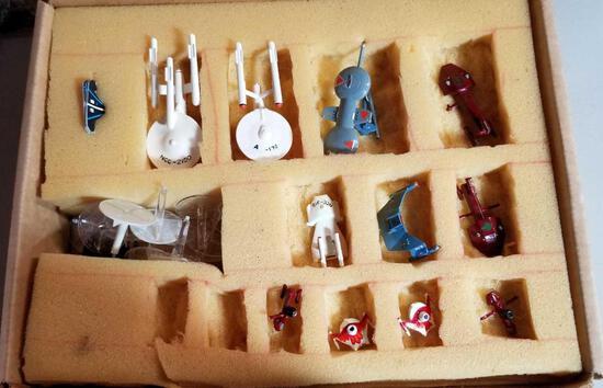 Miniature Die-Cast Star Trek Set