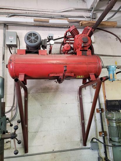 Baker Air Compressor and air hose reels