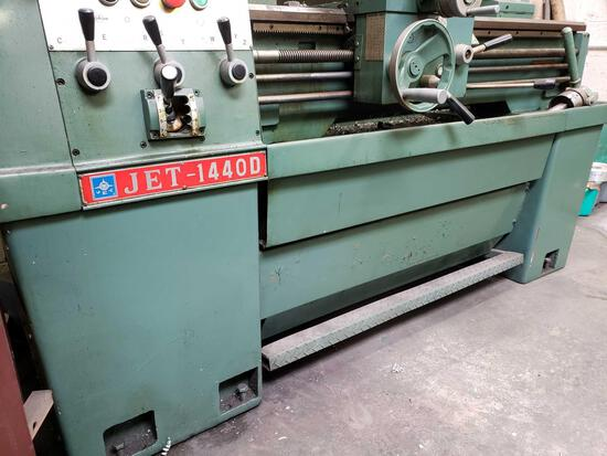 Jet-1440D Lathe with Mitutoyo DRO