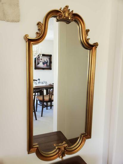 Golden Color Framed Mirror