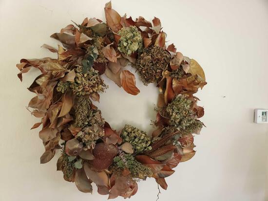 Dried Floral Decorative Wreaths