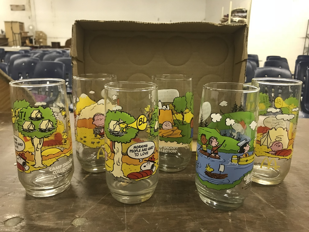 ca0bbee74a Lot  McDonald s Camp Snoopy Collection Glasses (lot 3)