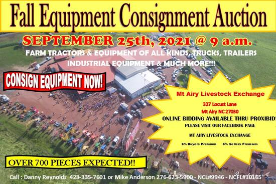 Fall Consignment Equipment Auction