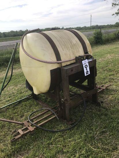 Spray tank rig
