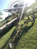 Twin row hay rake