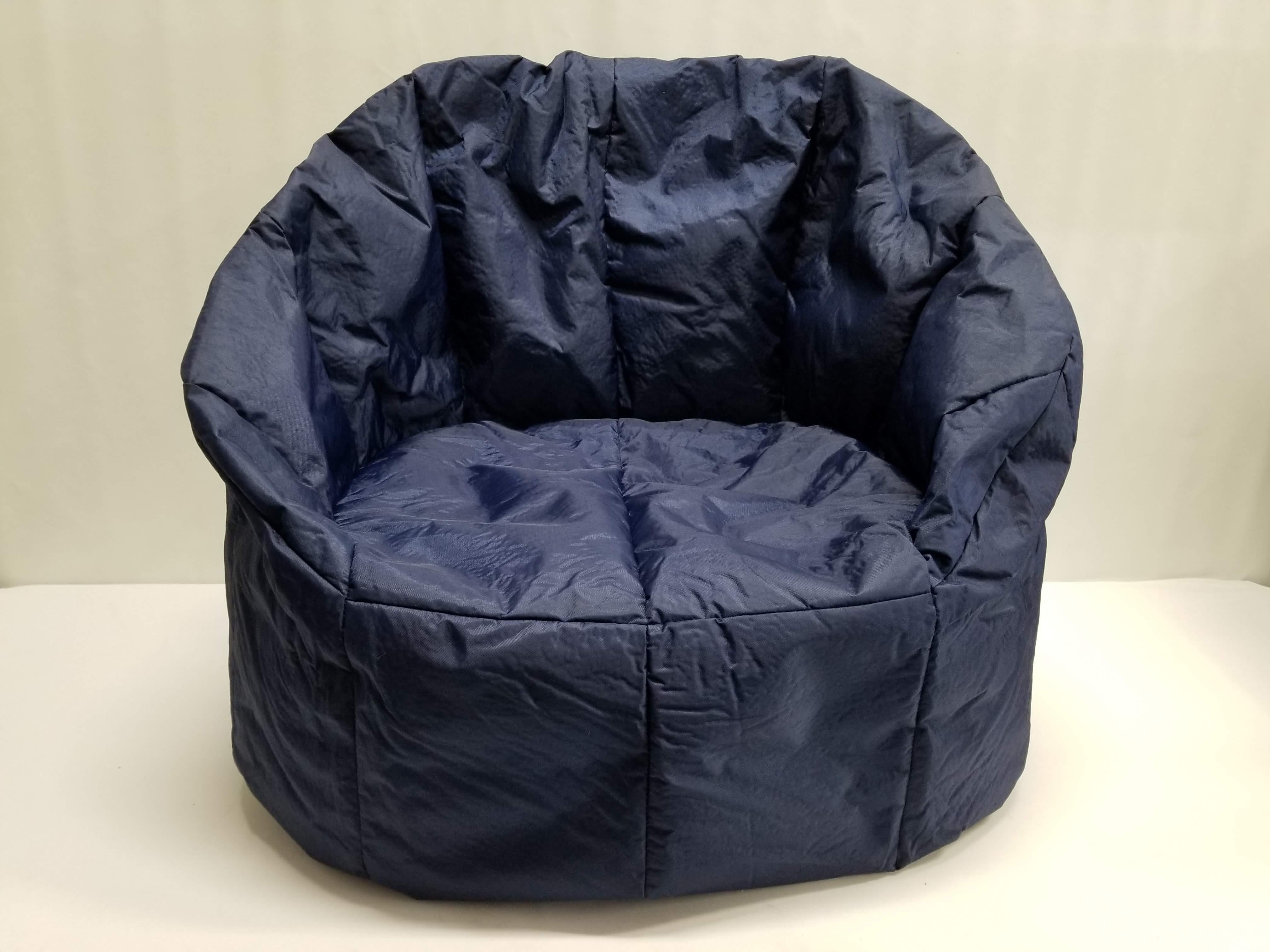 Incredible Big Joe Milano Bean Bag Chair Navy Blue Open Box New Creativecarmelina Interior Chair Design Creativecarmelinacom