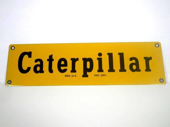2003 Caterpillar No. 46 Porcelain Enamel Sign