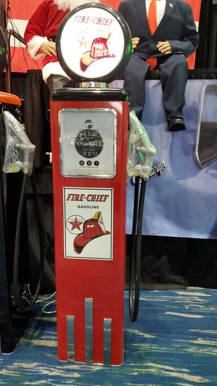 1951 Fire Chief Gas Pump Reproduction