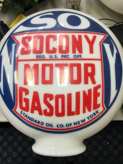 Socony Motor Gasoline Gas Pump Globe