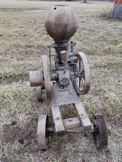 Great Western 3hp Ball Hopper Engine with Cart