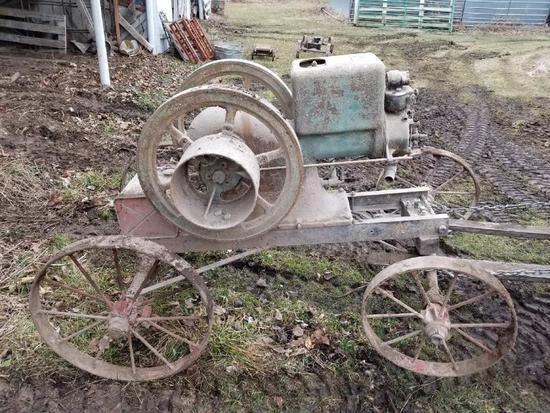 IH McCormick Deering 6hp M Kerosene with Cart