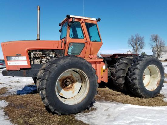 1981 ALLIS CHALMERS 7580 4 X 4 ARTICULATED 4WD TRACTOR