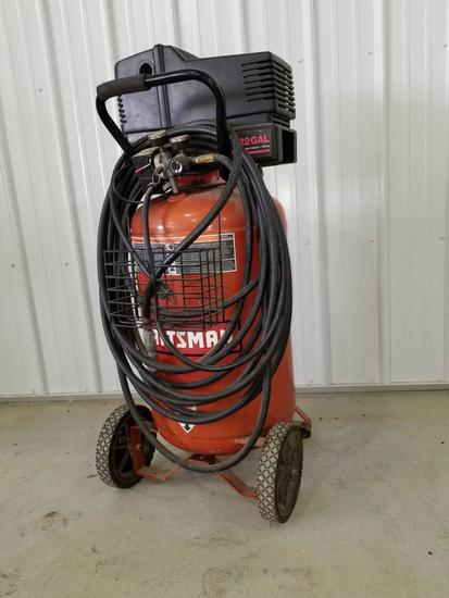 Craftsman 5 hp 22 gal upright portable air compressor