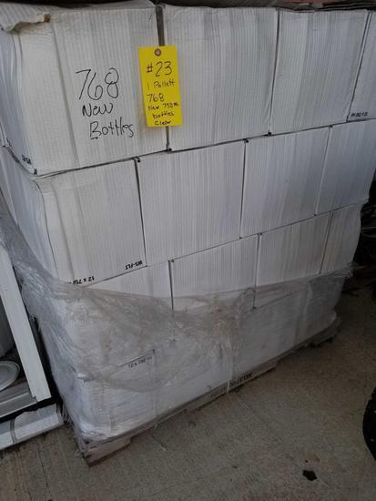 CLEAR GLASS 750 ML WINE BOTTLES