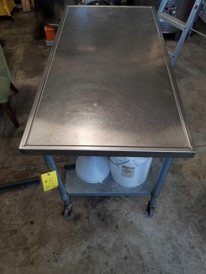 """30"""" X 60"""" STAINLESS STEEL TABLE"""