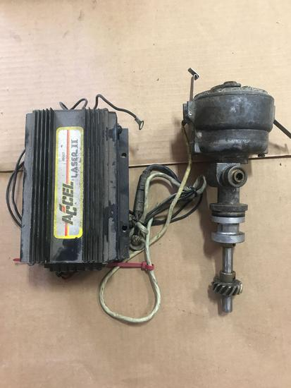 Accel Ignition Parts 3-distributors and 1-Accel ignition box