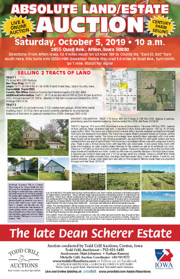 SCHERER LAND AND PERSONAL PROPERTY AUCTION