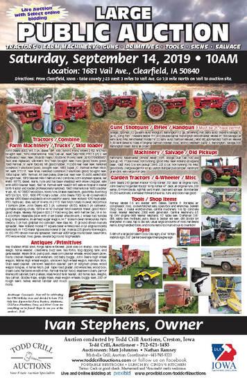LARGE PUBLIC FARM AUCTION