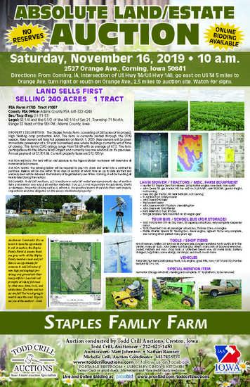 SOUTHWEST IOWA FARM LAND AUCTION