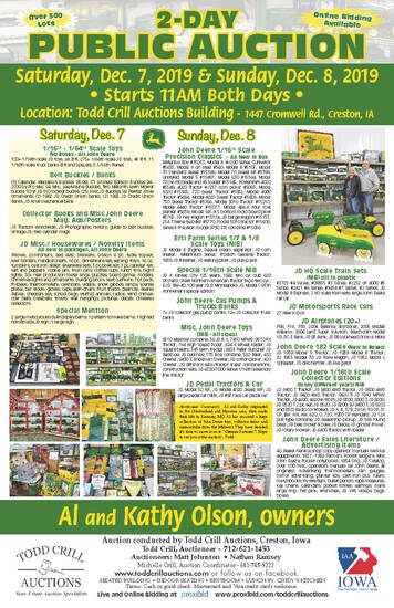 COLLECTOR  JOHN DEERE TOY AUCTION