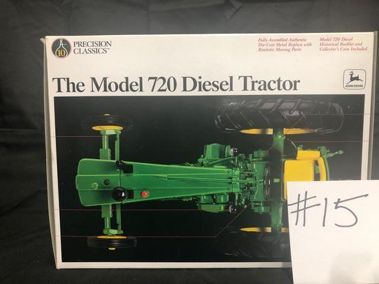 THE MODEL 720 DIESEL TRACTOR PRECISION CLASSICS 1/16 SCALE NO 5832 NIB
