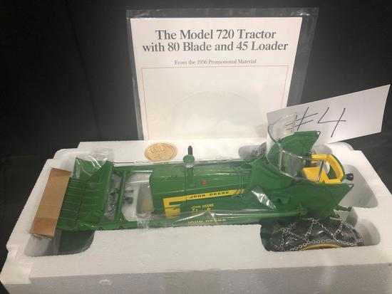 THE MODEL 720 TRACTOR WITH 80 BLADE AND 45 LOADER PRECISION CLASSIC 1/16 SCALE NO. 15165 NIB