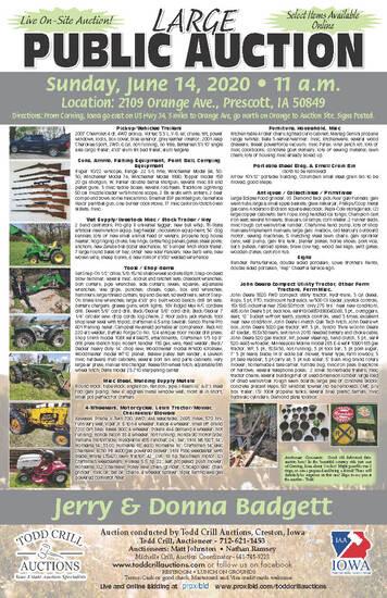 LARGE PUBLIC FARM AND PRIMITIVE  AUCTION
