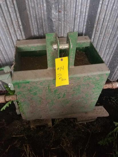 JOHN DEERE WEIGHT BOX
