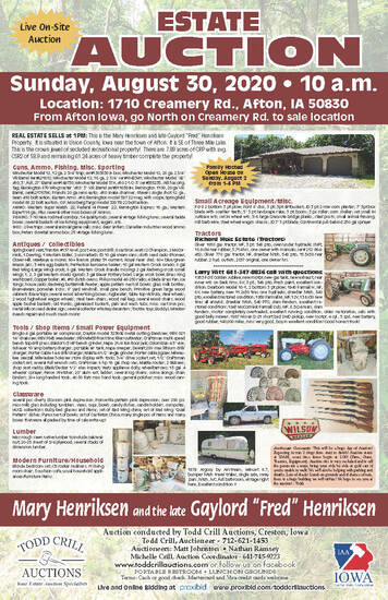 ESTATE / LAND / PERSONAL PROPERTY AUCTION