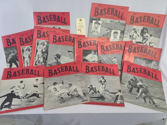 14 - 1943 BASEBALL MAGAZINES