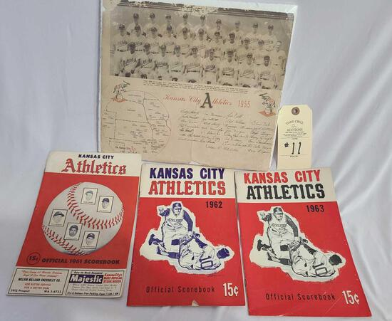 KANSAS CITY ATHLETICS BOOKS AND POSTER