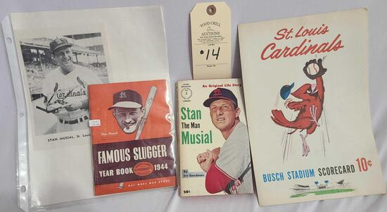 STAN MUSIAL AND ST. LOUIS CARDINALS BASEBALL MEMORABILIA