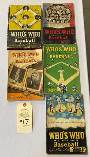 5 WHO'S WHO IN BASEBALL BOOKS